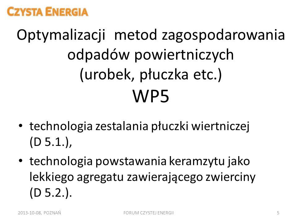 Optymalizacji metod zagospodarowania odpadów powiertniczych (urobek, płuczka etc.) WP5 technologia zestalania płuczki wiertniczej (D 5.1.), technologi