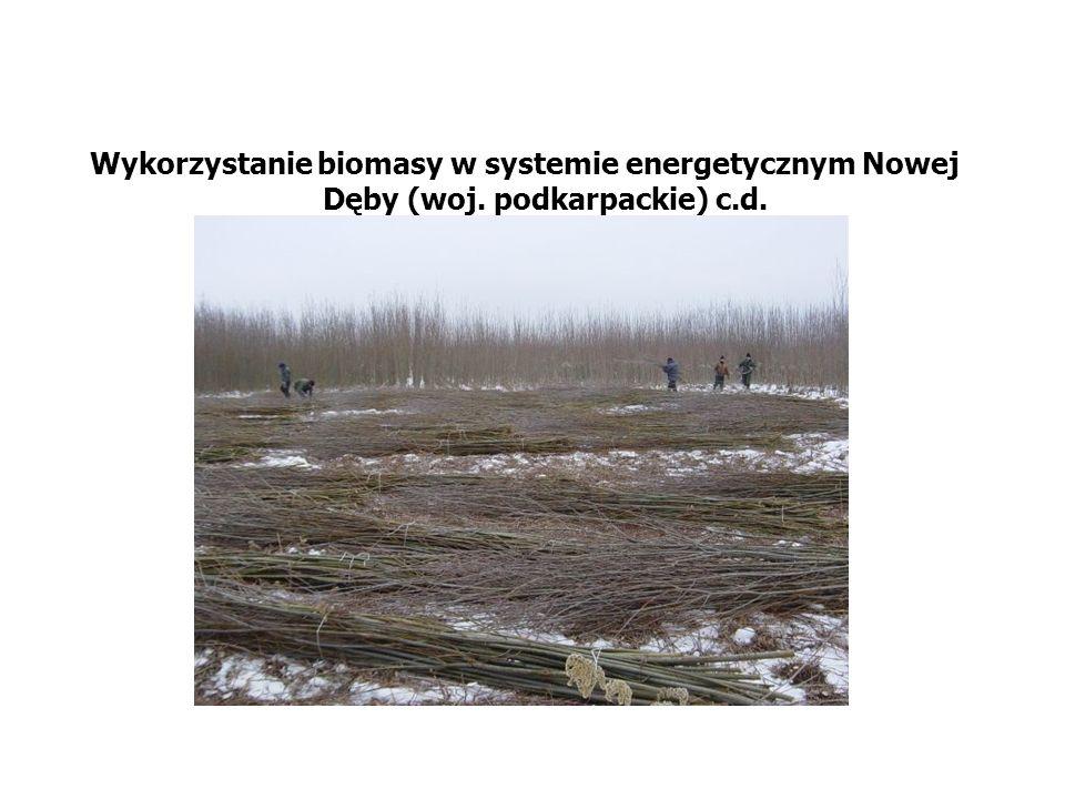 Wykorzystanie biomasy w systemie energetycznym Nowej Dęby (woj. podkarpackie) c.d.