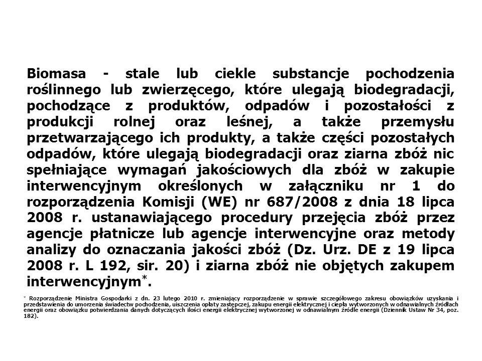 Polska postrzegana jest w UE jako kraj o dużych potencjalnych możliwościach produkcji biomasy na cele energetyczne, wynika to stąd, iż powierzchnia UR przypadająca na mieszkańca wynosi 0,41 ha, a w starej Unii 0,19 ha, Wyniki analiz i szacunków dokonanych przez niektórych specjalistów zagranicznych wskazują, że w Polsce pod produkcję na cele energetyczne można przeznaczyć od 1,0 do 2, 0 mln ha UR.