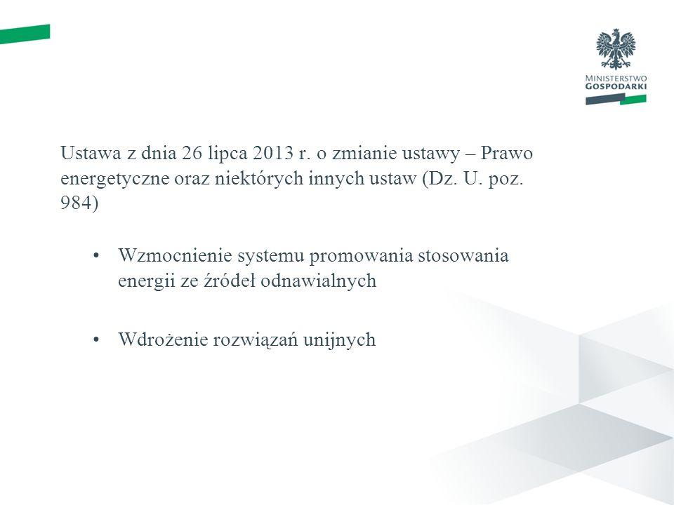 Wprowadzone rozwiązania Definicja mikroinstalacji Ułatwienia przyłączeniowe mikroinstalacji Zwolnienie z obowiązku wnoszenia opłat za przyłączenie do sieci dystrybucyjnej Sprzedaż wytworzonej energii elektrycznej przez osoby fizyczne niebędące Przedsiębiorcami (80% średniej ceny sprzedaży energii elektrycznej w poprzednim roku kalendarzowym)