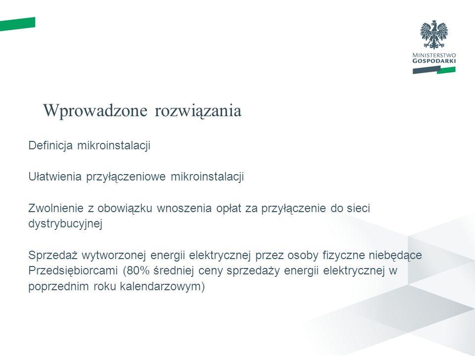 Wprowadzone rozwiązania Gwarancje pochodzenia – dowód udziału OZE w koszyku energetycznym Wnioskowanie Krajowy plan działania w zakresie energii ze źródeł odnawialnych Cele OZE w perspektywie czasowej w sektorze transportowym, energii elektrycznej i ogrzewania; podjęte działania; sprawozdawczość