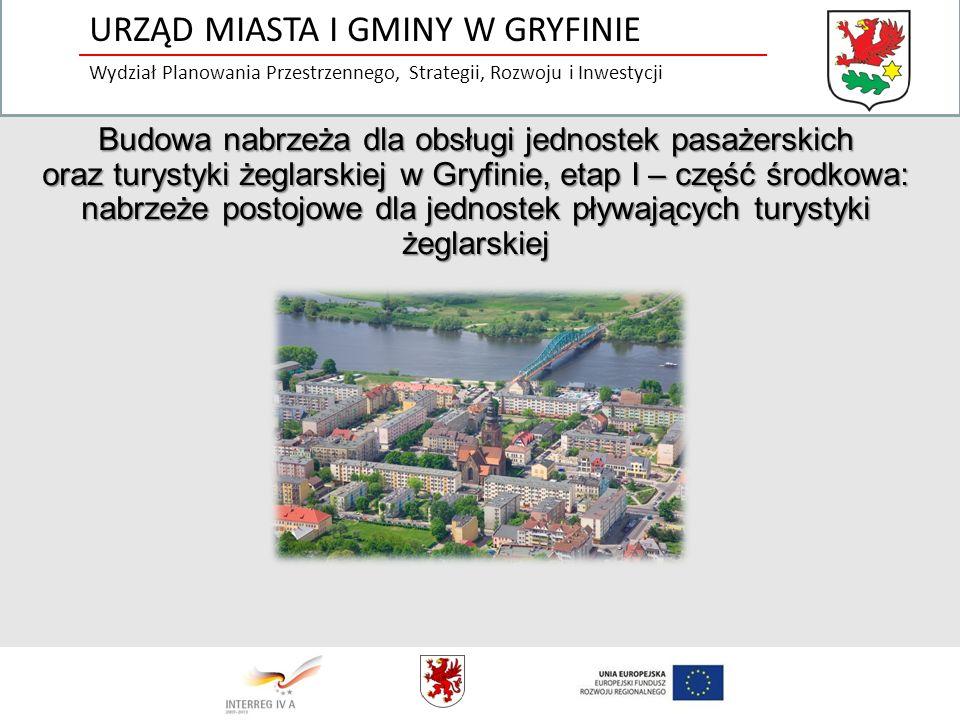 Budowa nabrzeża dla obsługi jednostek pasażerskich oraz turystyki żeglarskiej w Gryfinie, etap I – część środkowa: nabrzeże postojowe dla jednostek pł