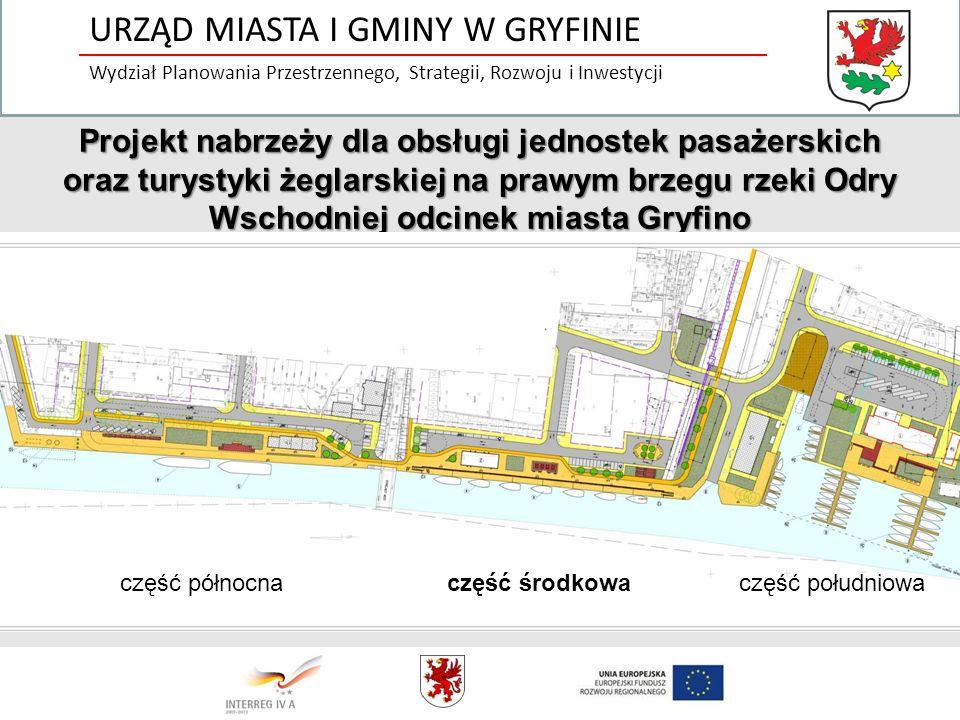 Projekt nabrzeży dla obsługi jednostek pasażerskich oraz turystyki żeglarskiej na prawym brzegu rzeki Odry Wschodniej odcinek miasta Gryfino część pół