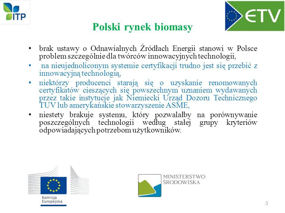 Polski rynek biomasy brak ustawy o Odnawialnych Źródłach Energii stanowi w Polsce problem szczególnie dla twórców innowacyjnych technologii, na nieuje