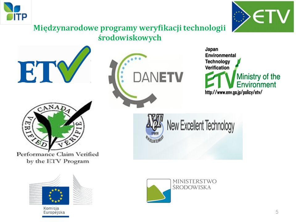Międzynarodowe programy weryfikacji technologii środowiskowych 5