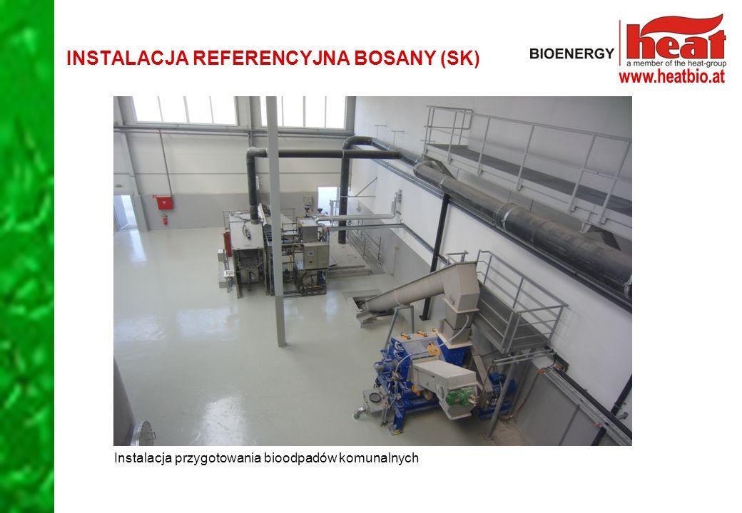 Instalacja przygotowania bioodpadów komunalnych INSTALACJA REFERENCYJNA BOSANY (SK)