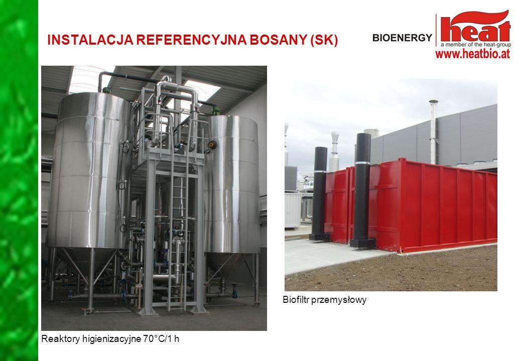 Reaktory higienizacyjne 70°C/1 h Biofiltr przemysłowy