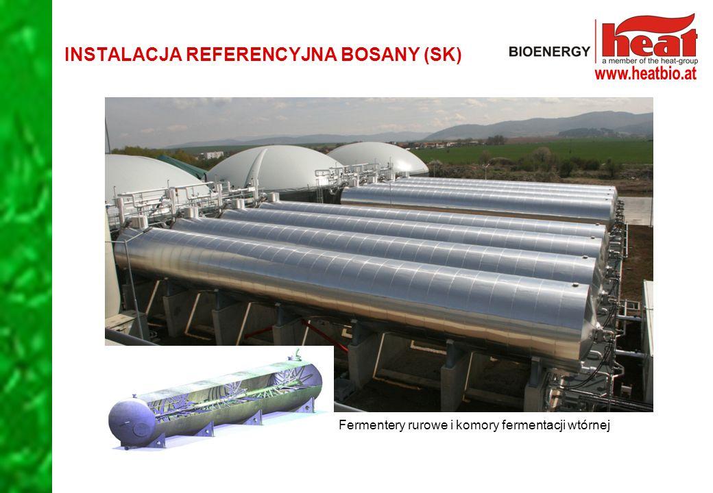 Fermentery rurowe i komory fermentacji wtórnej INSTALACJA REFERENCYJNA BOSANY (SK)
