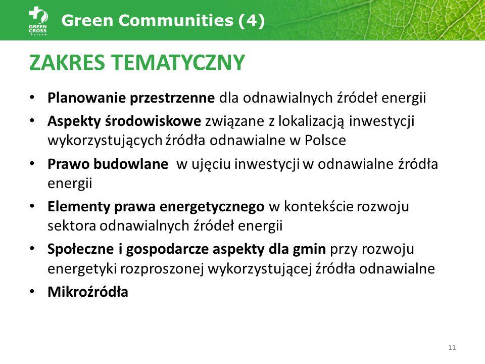 Planowanie przestrzenne dla odnawialnych źródeł energii Aspekty środowiskowe związane z lokalizacją inwestycji wykorzystujących źródła odnawialne w Po