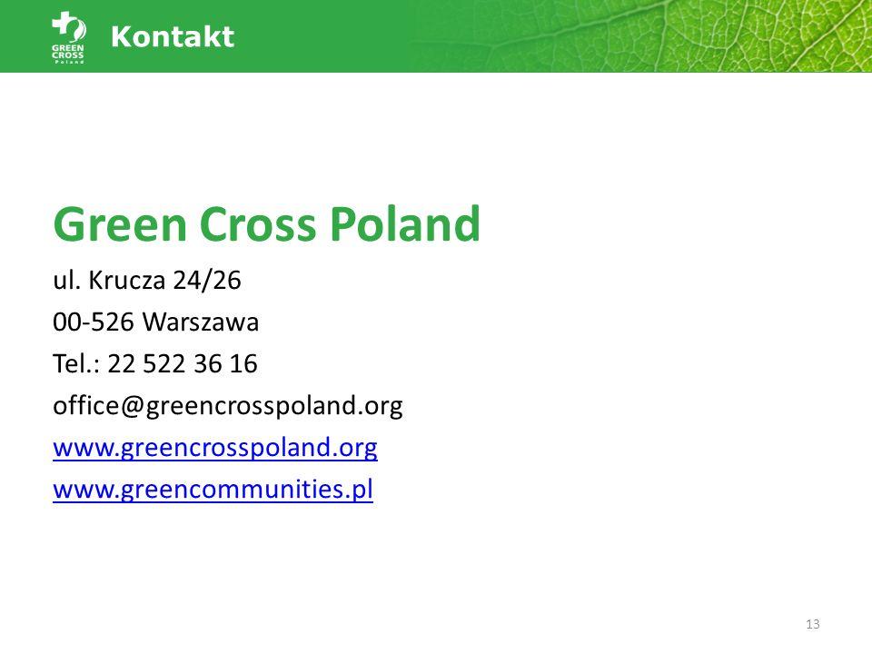 Green Cross Poland ul. Krucza 24/26 00-526 Warszawa Tel.: 22 522 36 16 office@greencrosspoland.org www.greencrosspoland.org www.greencommunities.pl 13