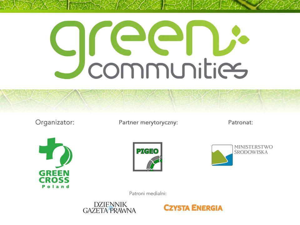 CELE PROJEKTU Edukacja przedstawicieli urzędów gminy w zakresie odnawialnych źródeł energii (OZE) Usprawnienie relacji między urzędami a inwestorami OZE Stworzenie Certyfikatu Gmina przyjazna zielonej energii 8 Green Communities (1)