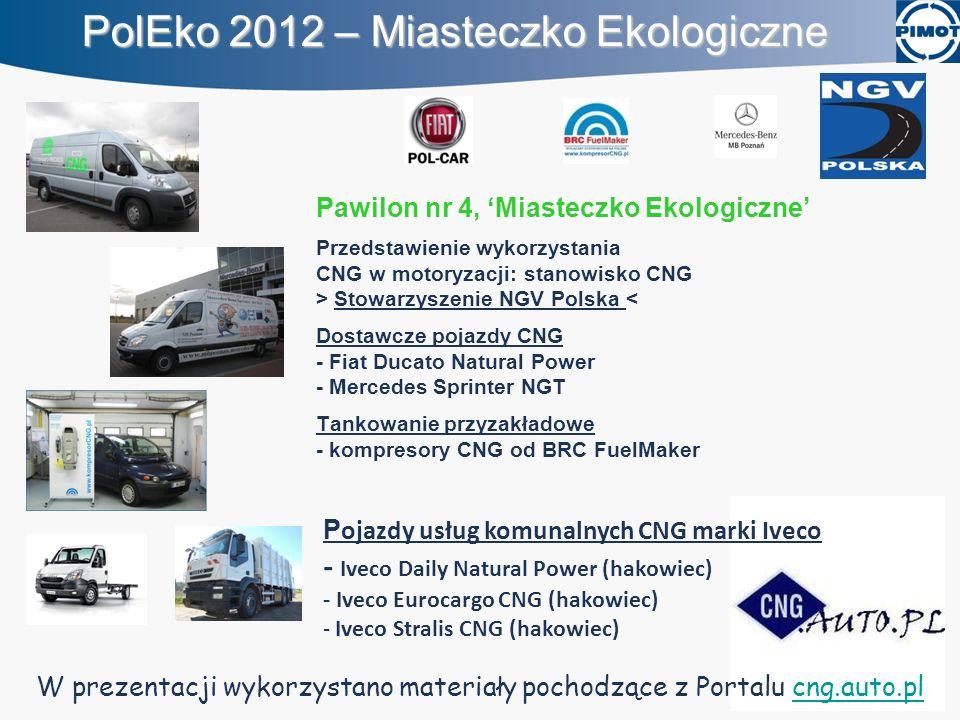 Pawilon nr 4, Miasteczko Ekologiczne Przedstawienie wykorzystania CNG w motoryzacji: stanowisko CNG > Stowarzyszenie NGV Polska < Dostawcze pojazdy CN