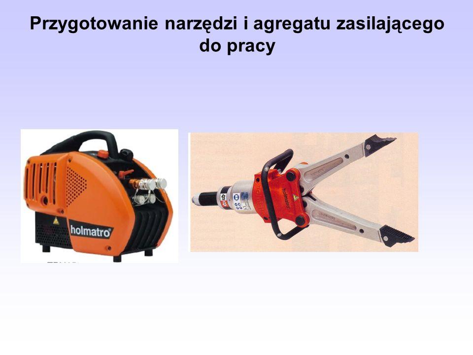Przygotowanie narzędzi i agregatu zasilającego do pracy