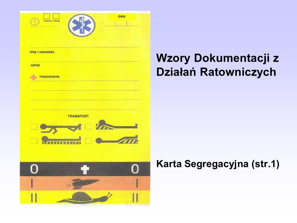 Wzory Dokumentacji z Działań Ratowniczych Karta Segregacyjna (str.1)