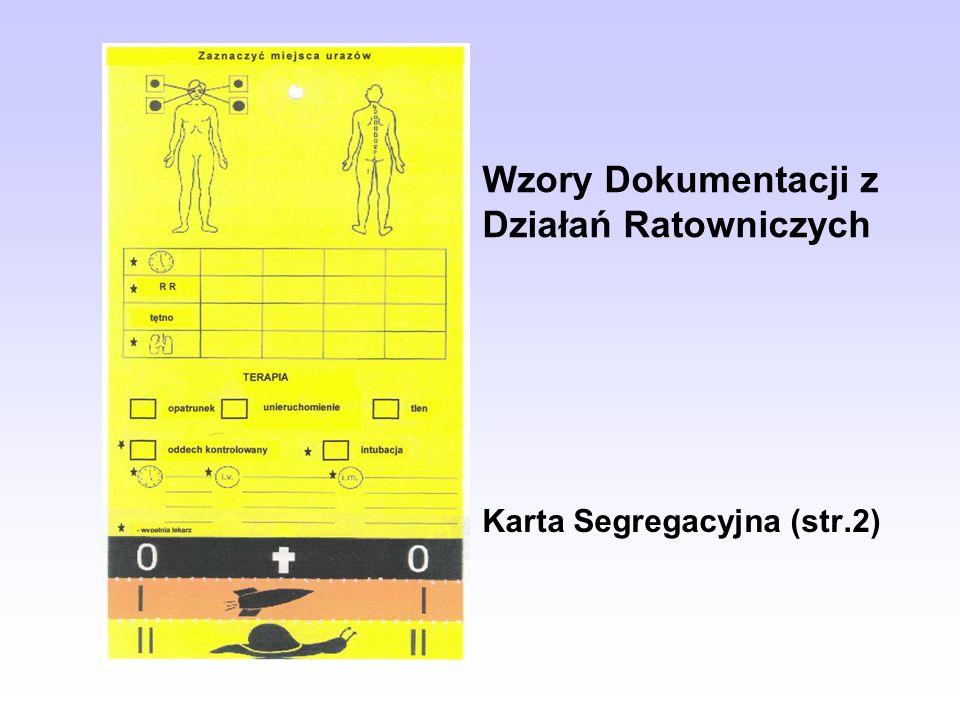 Wzory Dokumentacji z Działań Ratowniczych Karta Segregacyjna (str.2)