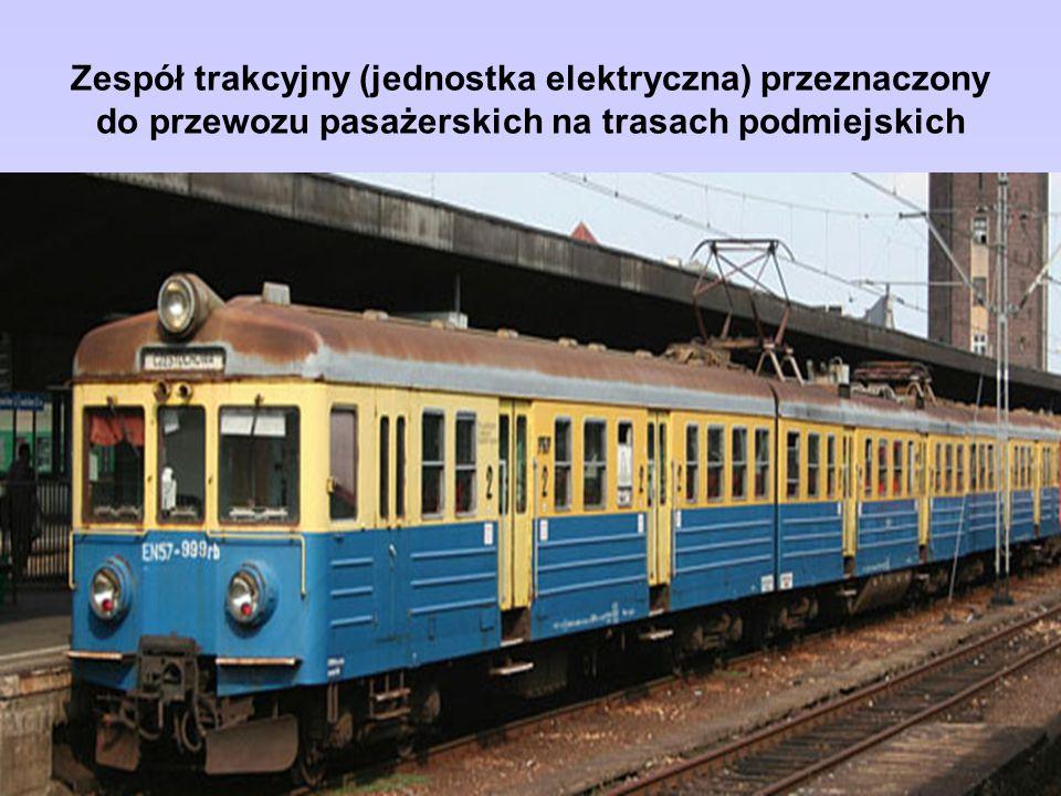 Zespół trakcyjny (jednostka elektryczna) przeznaczony do przewozu pasażerskich na trasach podmiejskich