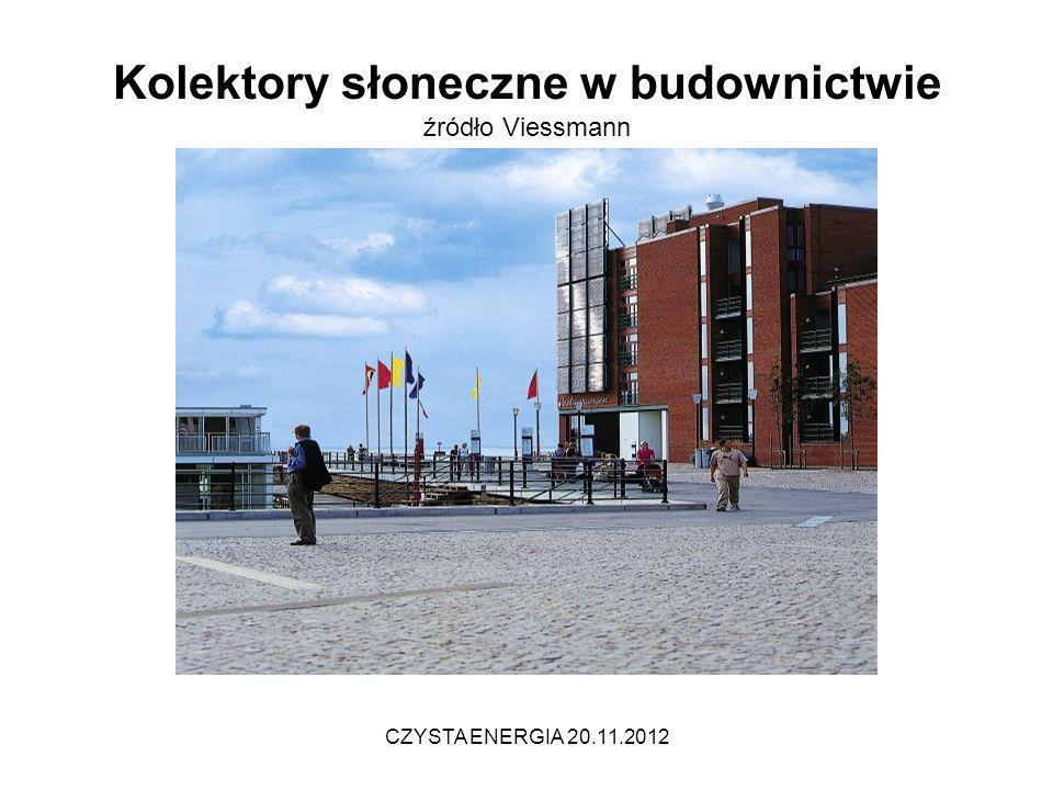 Kolektory słoneczne w budownictwie źródło Viessmann CZYSTA ENERGIA 20.11.2012