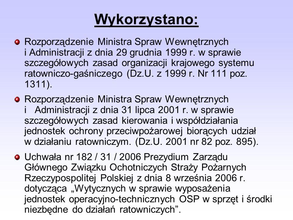 Rozporządzenie Ministra Spraw Wewnętrznych i Administracji z dnia 29 grudnia 1999 r. w sprawie szczegółowych zasad organizacji krajowego systemu ratow