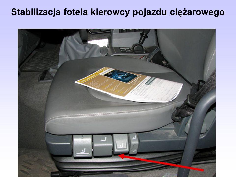 Stabilizacja fotela kierowcy pojazdu ciężarowego