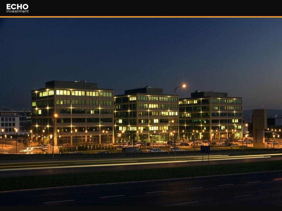 4 Astra Park Dane budynków: -Powierzchnia wynajmowana 16 200 m2 - Siedziba spółek giełdowych : Echo Investment S.A., Cersanit S.A., Barlinek S.A.