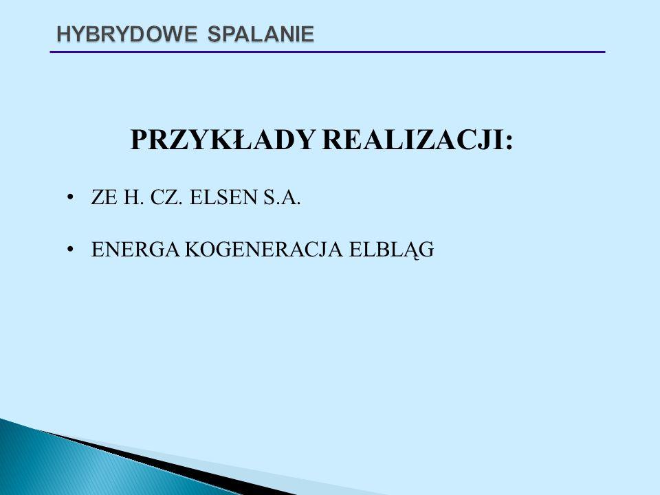 PRZYKŁADY REALIZACJI: ZE H. CZ. ELSEN S.A. ENERGA KOGENERACJA ELBLĄG