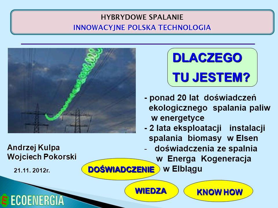 1991 - ROZPOCZĘCIE DZIAŁALNOŚCI PROFIL DZIAŁALNOŚCI FIRMY - pro-ekologiczne technologie dla branży energetycznej WŁAŚCICIELE - polskie prywatne przedsiębiorstwa, Biznesmeni i Naukowcy związani z sektorem energetycznym LOKALIZACJA - siedziba firmy w Warszawie, oddział terenowy w Katowicach KAPITAŁ ZAŁOŻYCIELSKI – 1 000 000 PLN KIM JESTEŚMY