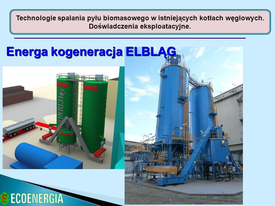 Technologie spalania pyłu biomasowego w istniejących kotłach węglowych. Doświadczenia eksploatacyjne. Energa kogeneracja ELBLĄG