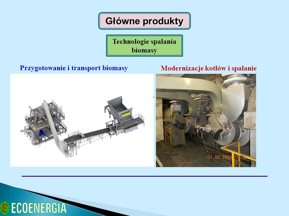 Technologie spalania pyłu biomasowego w istniejących kotłach węglowych.
