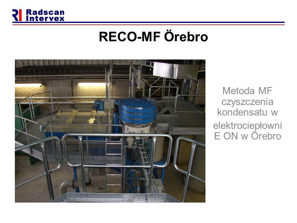 RECO-MF Örebro Metoda MF czyszczenia kondensatu w elektrociepłowni E ON w Örebro