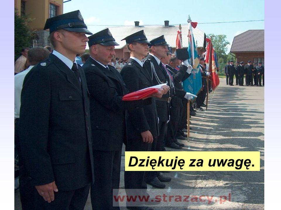 W prezentacji wykorzystano: Ceremoniał Ochotniczych Straży Pożarnych – uchwała nr 97/XI/2000 i 98/XI/2000 Zarządu Głównego Związku Ochotniczych Straży