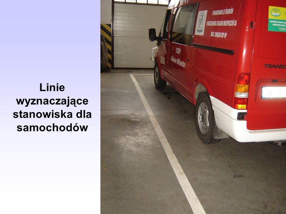Linie wyznaczające stanowiska dla samochodów