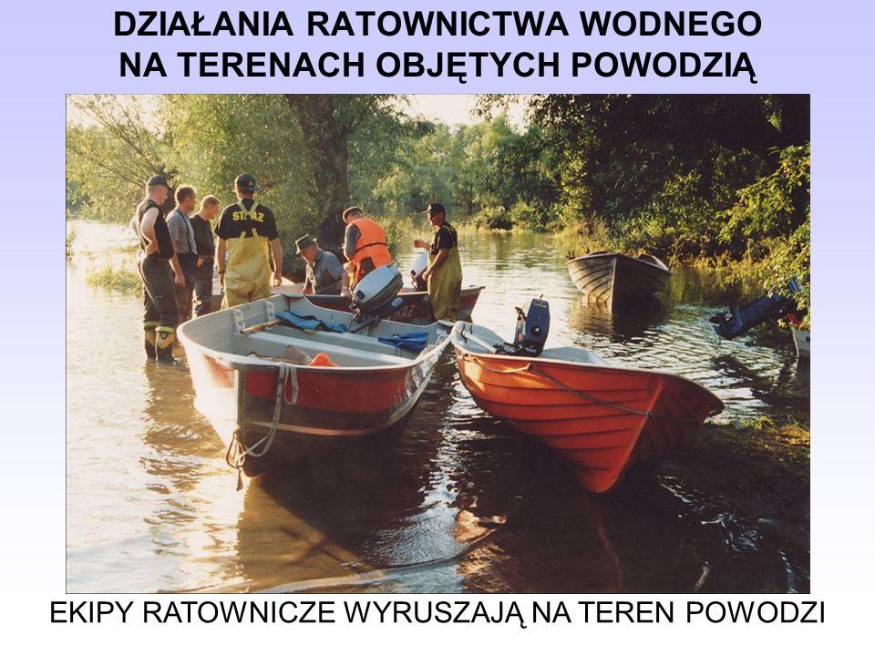 DZIAŁANIA RATOWNICTWA WODNEGO NA TERENACH OBJĘTYCH POWODZIĄ Znaki umowne stosowane na terenie powodzi
