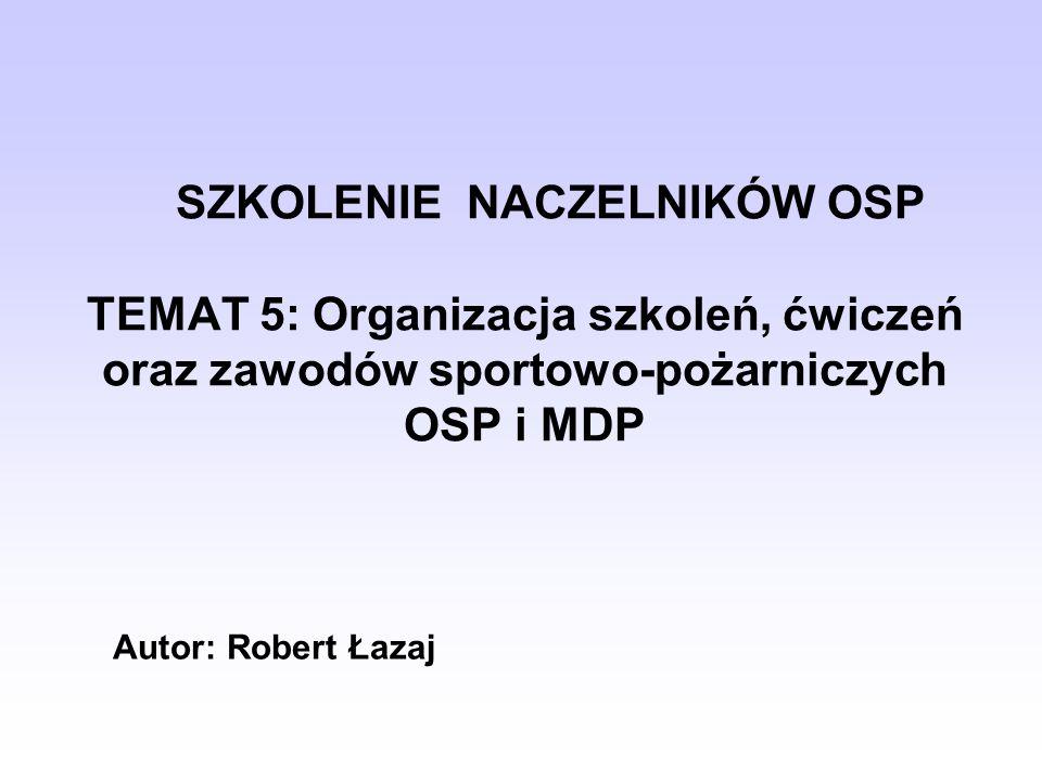Zadania Naczelnika OSP z Zakresu Organizacji Procesu Szkolenia i Ćwiczeń Ćwiczenia ratownictwa drogowego[1].[1] [1] www.cspsp.pl planowanie szkoleń i ćwiczeń, sprawowanie nadzoru dydaktycznego, w tym również w zakresie hospitacji zajęć, badanie i diagnozowanie osiągnięć edukacyjnych członków OSP, prowadzenie doskonalenia zawodowego dowódców OSP w formie odpraw dydaktycznych.