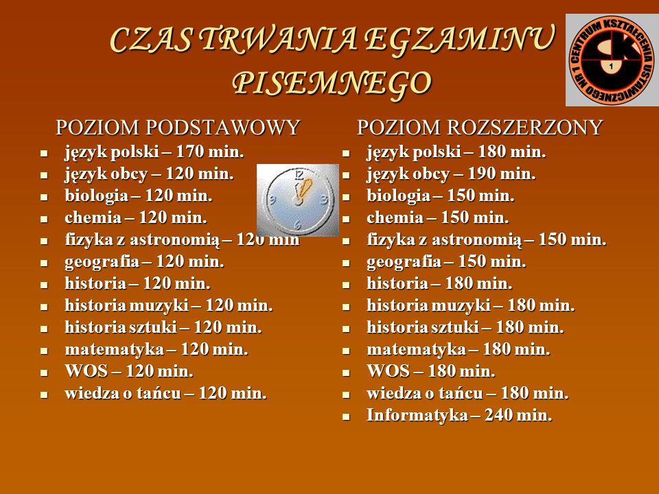 CZĘŚĆ PISEMNA EGZAMINU MATURALNEGO PRZEDMIOTY ZDAWANE OBOWIĄZKOWO NA POZIOMIE PODSTAWOWYM LUB ROZSZERZONYM język polski język polski język obcy nowoży