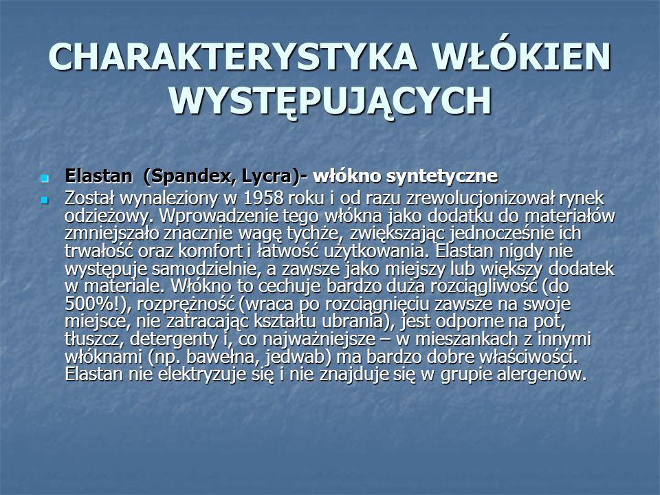 Poliamid (Nylon )-włókno syntetyczne Poliamid (Nylon )-włókno syntetyczne - Pierwsze w historii włókno syntetyczne.