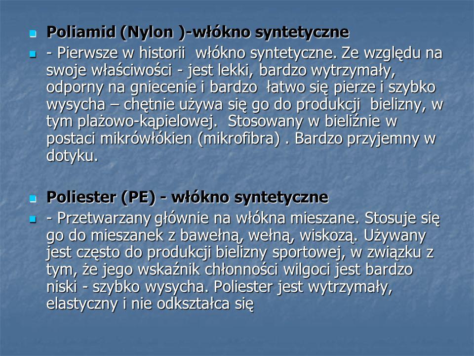 Wiskoza – włókno sztuczne (nie syntetyczne!) z naturalnego surowca organicznego Wiskoza – włókno sztuczne (nie syntetyczne!) z naturalnego surowca organicznego Włókno to składa się głównie z celulozy i wytwarzane jest przemysłowo.