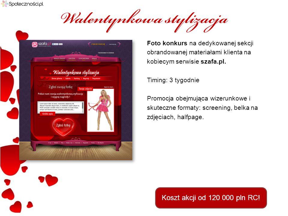 Aplikacja umożliwiająca wysyłanie życzeń walentynkowych na serwisie Fotka.pl.