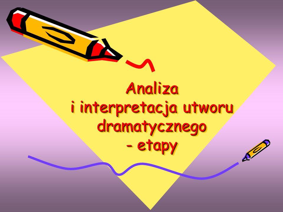 Analiza i interpretacja utworu dramatycznego - etapy