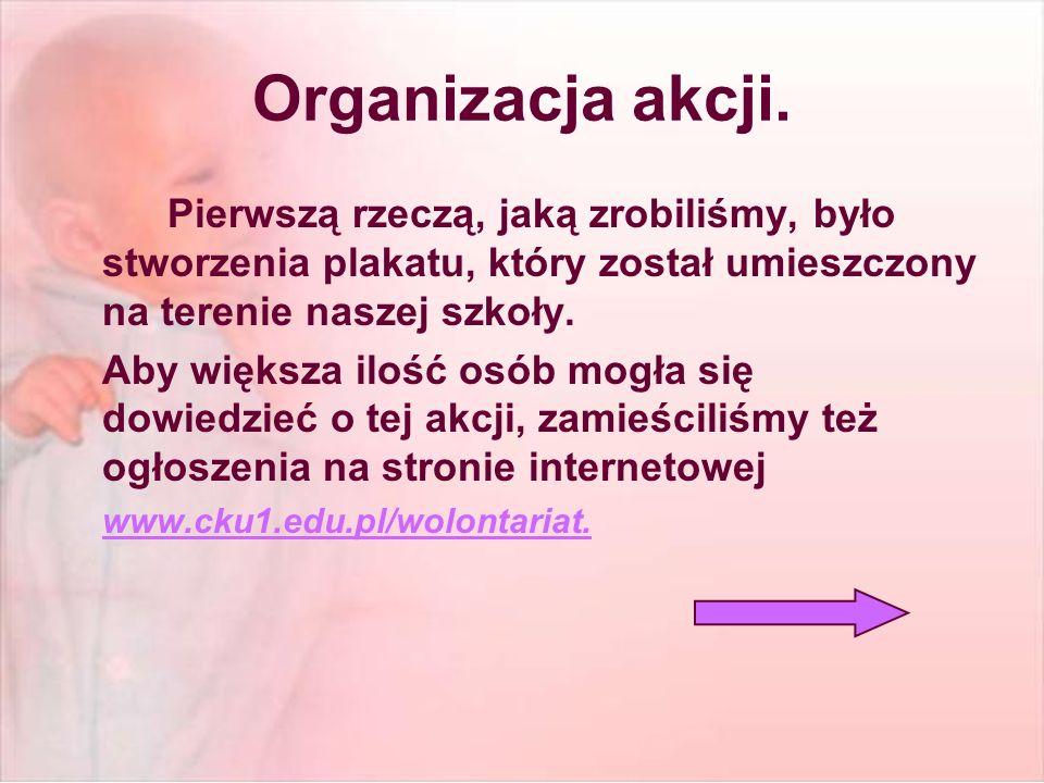 Organizacja akcji.