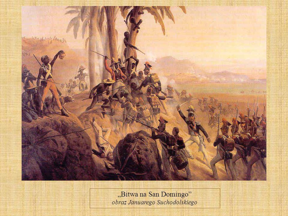 Bitwa na San Domingo obraz Januarego Suchodolskiego