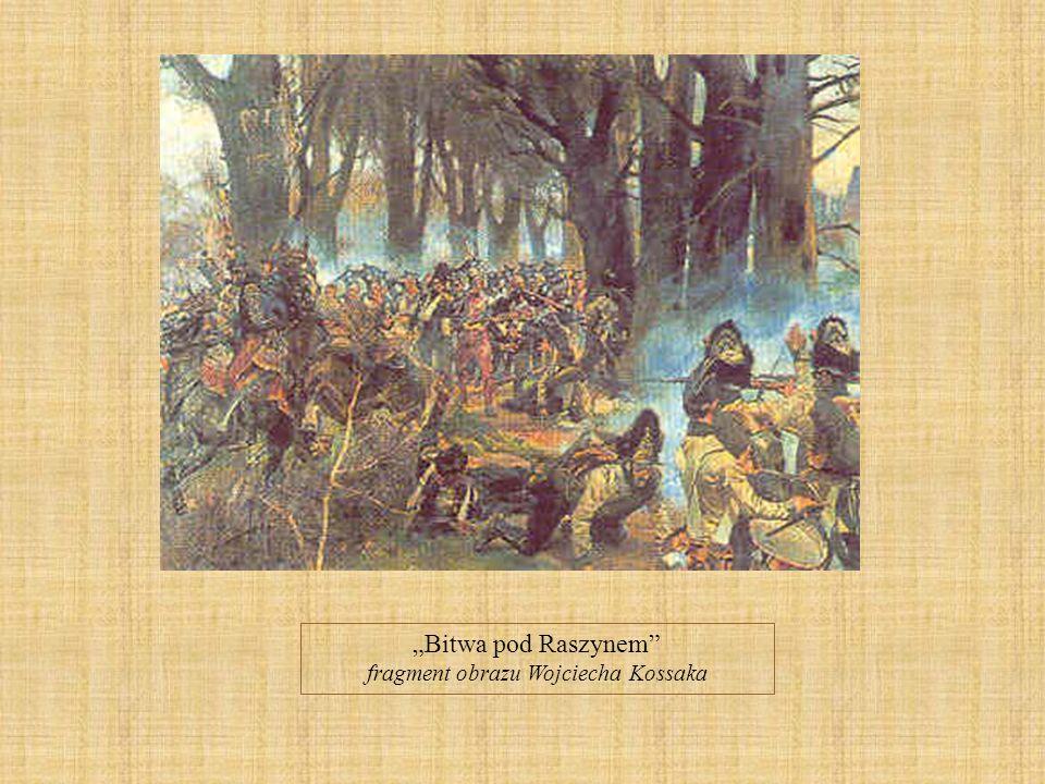Bitwa pod Raszynem fragment obrazu Wojciecha Kossaka