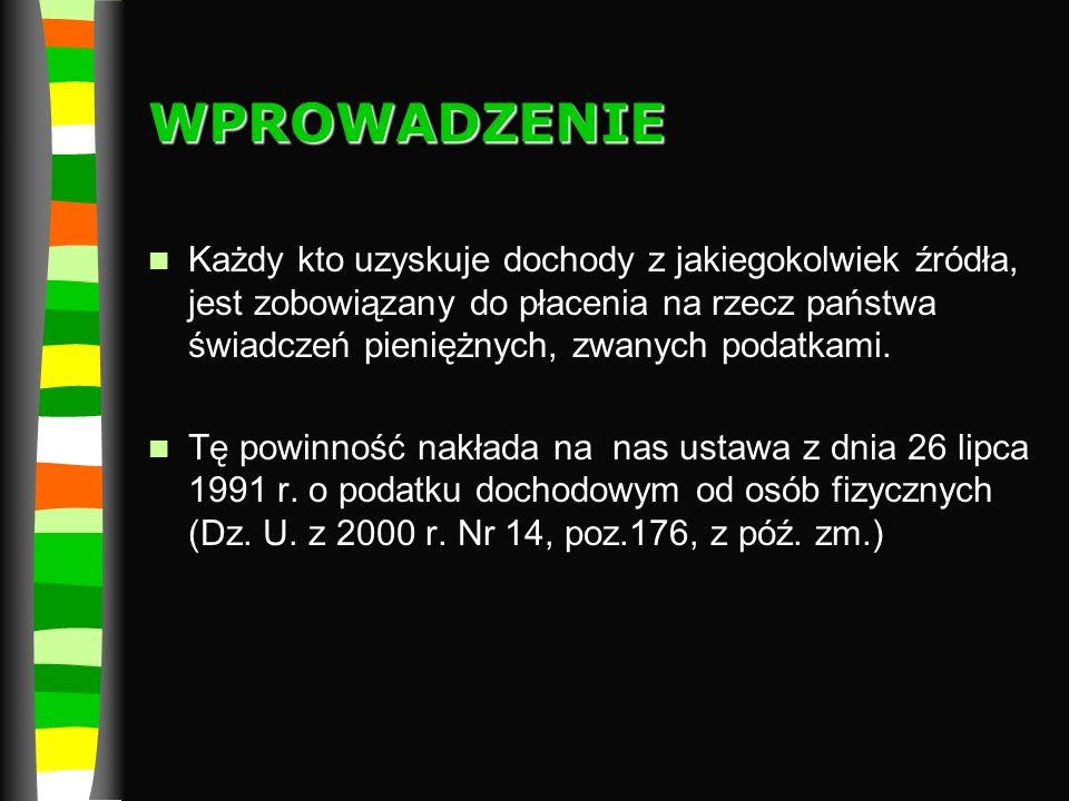 BIBLIOGRAFIA Garbacik K., Żmiejko M., Czas na przedsiębiorczość, Wydawnictwo PWN,Warszawa-Łódź 2008 www.mf.gov.pl Dziękuję za uwagę!