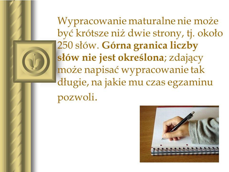 Jeżeli tekst wypracowania nie zmieści się w wyznaczonym na nie miejscu, można kontynuować pisanie w brudnopisie, ale koniecznie musisz przekreślić słowo brudnopis i napisać ciąg dalszy czystopisu.