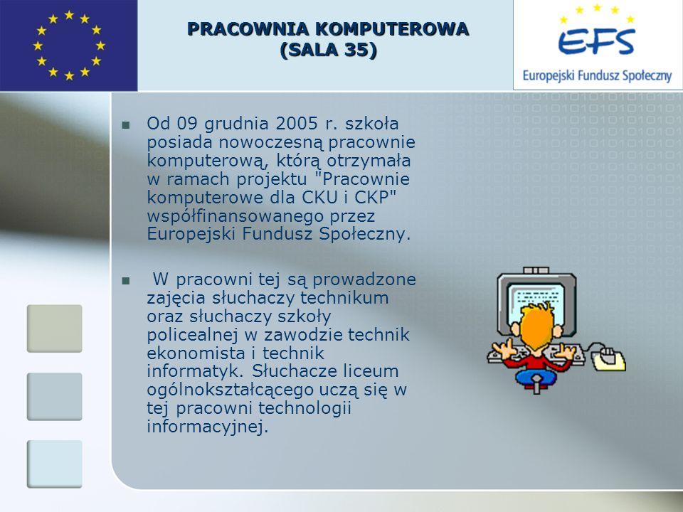 Od 09 grudnia 2005 r. szkoła posiada nowoczesną pracownie komputerową, którą otrzymała w ramach projektu