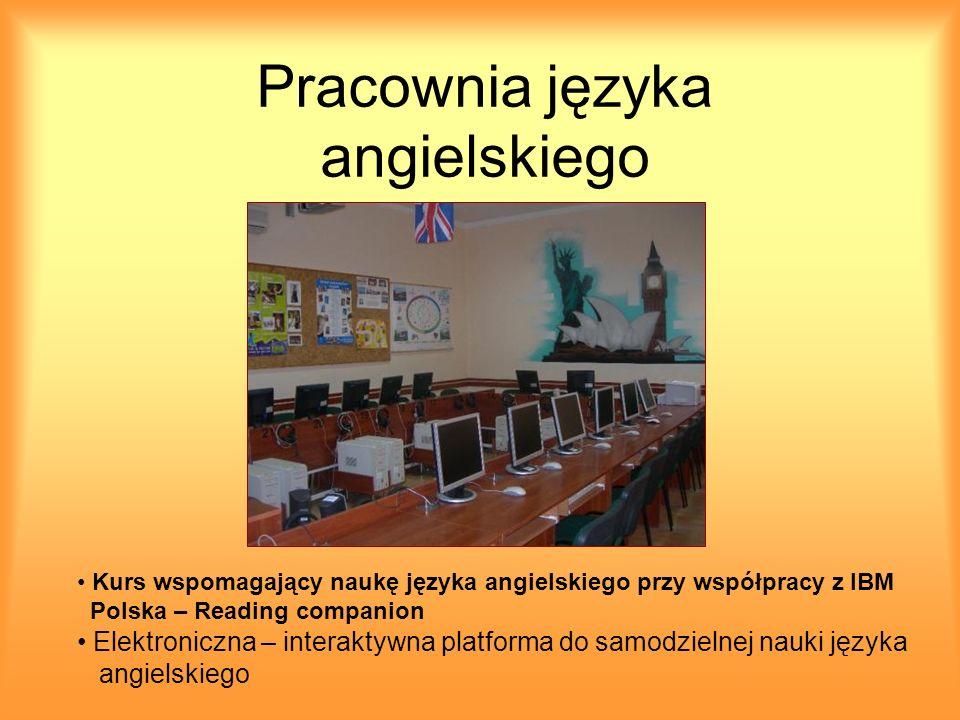 Pracownia języka angielskiego Kurs wspomagający naukę języka angielskiego przy współpracy z IBM Polska – Reading companion Elektroniczna – interaktywn