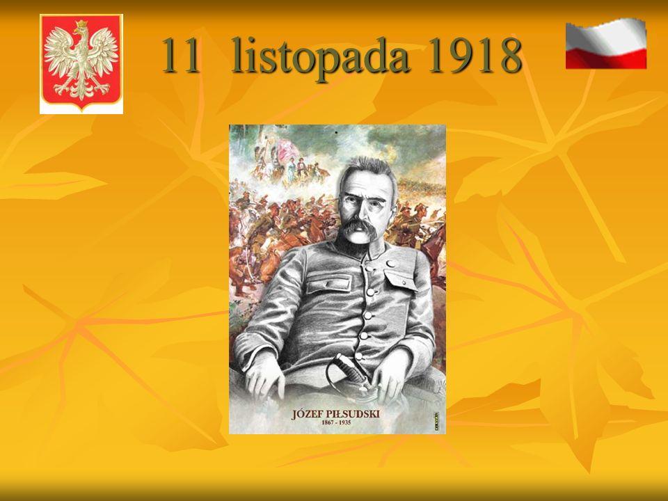 Józef Piłsudski z córkami 11 listopada 1918