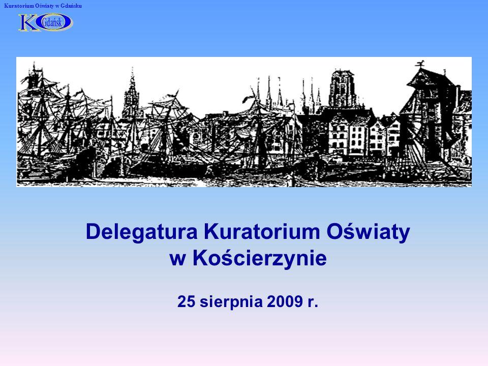 25 sierpnia 2009 r. Delegatura Kuratorium Oświaty w Kościerzynie Kuratorium Oświaty w Gdańsku
