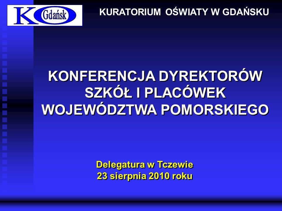 Kuratorium Oświaty w Gdańsku Delegatura w Tczewie 12 Wnioski z analizy zaleceń wydanych w wyniku kontroli doraźnych przeprowadzonych w roku szkolnym 2009/2010