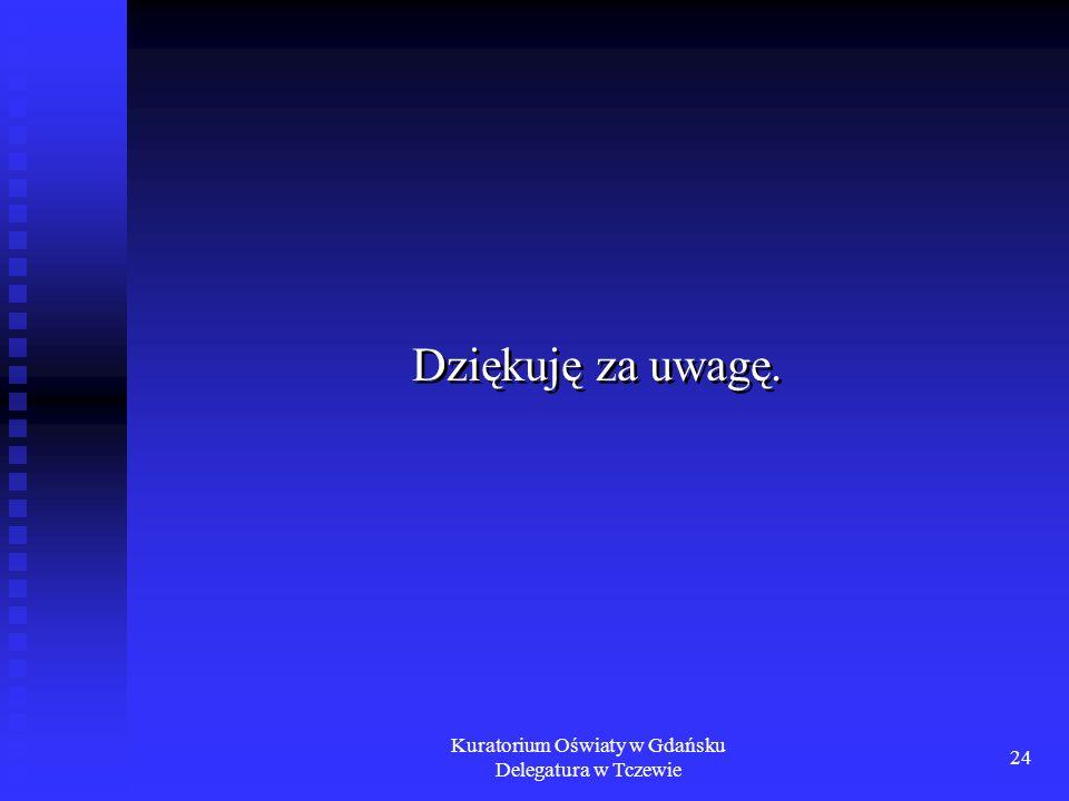 Kuratorium Oświaty w Gdańsku Delegatura w Tczewie 24 Dziękuję za uwagę.