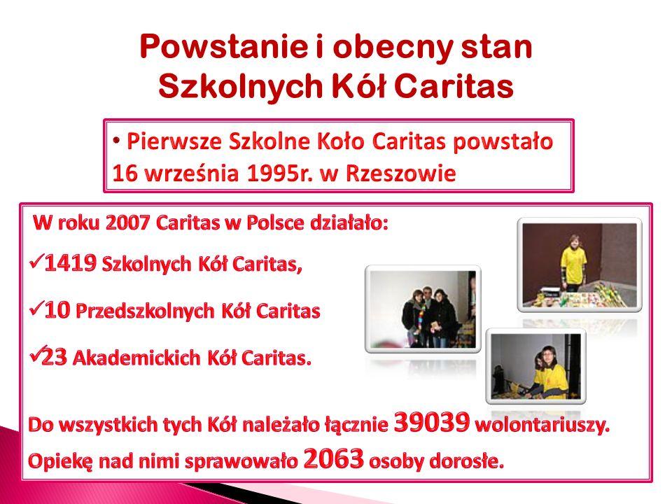 Powstanie i obecny stan Szkolnych Kó ł Caritas